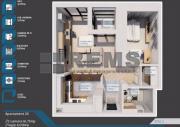Apartament 2 camere, 61 mp, Buna Ziua, semifinisat
