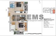 Apartament 3 camere, 65.5 mp + 2 balcoane, zona VIVO
