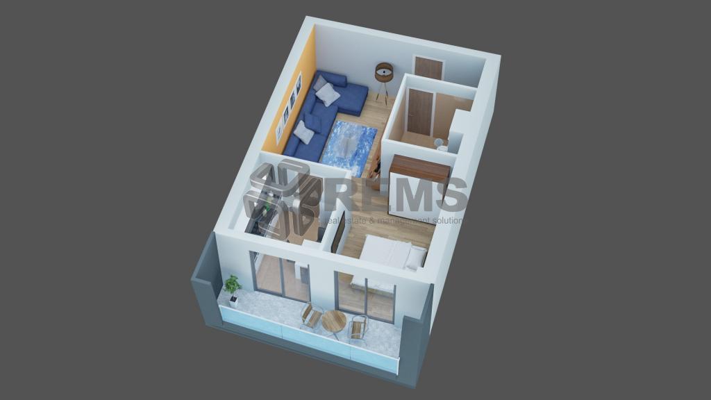 Apartament 2 camere constructie noua, cu nisa de dormit