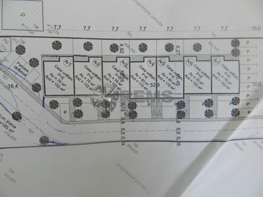 Teren de vanzare in Manastur zona Campului cu Pud aprobat pentru constructia a 7 case insiruite