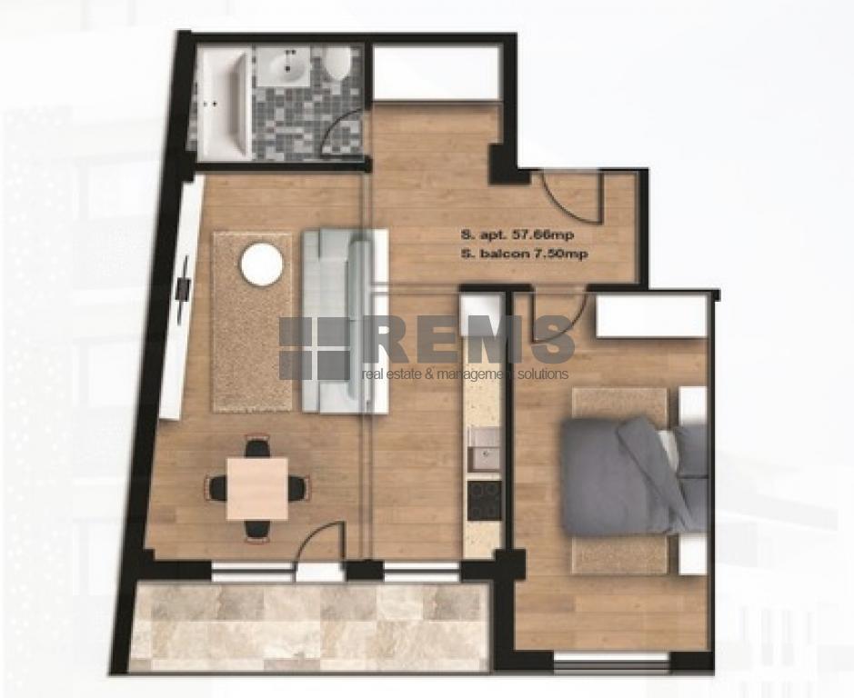 Apartament cu 2 camere in Centru, zona Facultatii de Agronomie, 57 mp