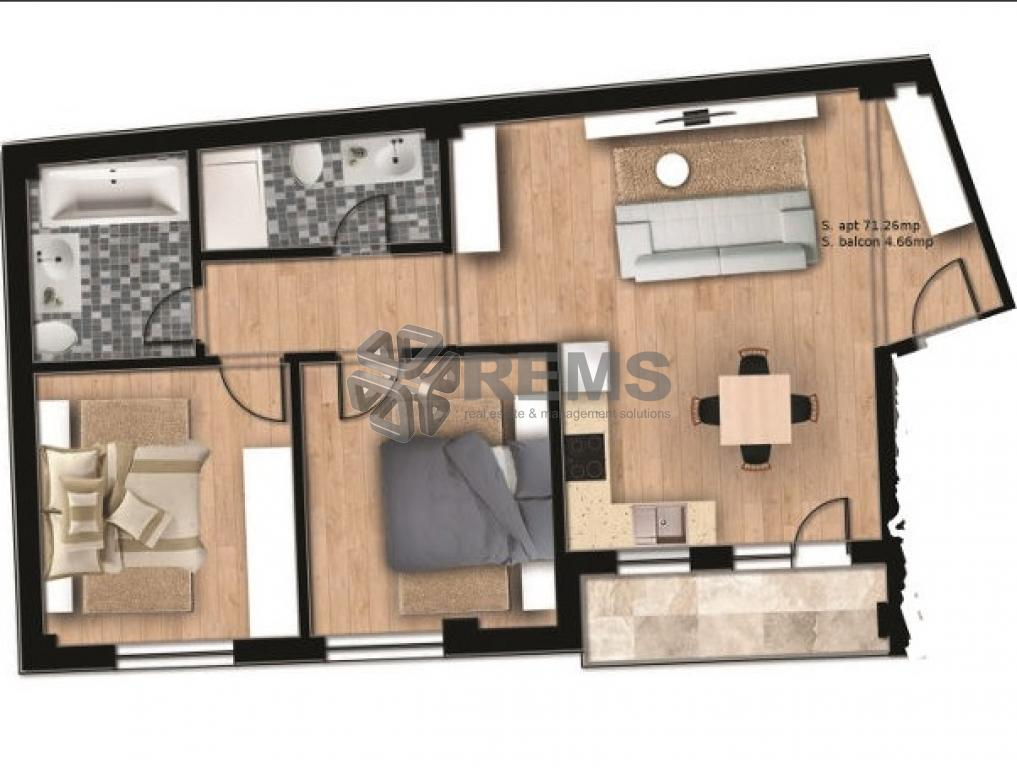 Apartament cu 3 camere in Centru, zona Facultatii de Agronomie, 72 mp