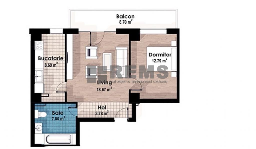Apartament 2 camere, c-tie finalizata, CF, Europa