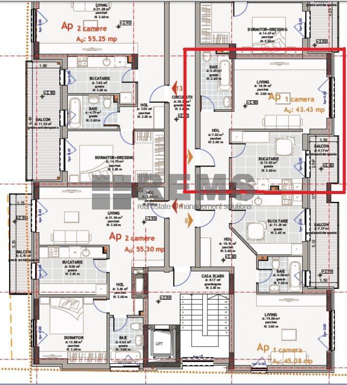 wohnung cluj napoca rems 6051 rems imobiliare. Black Bedroom Furniture Sets. Home Design Ideas