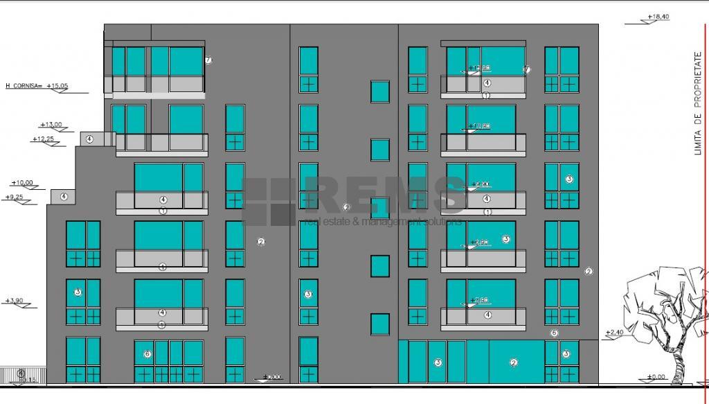 Teren cu proiect autorizat pentru imobil P+5 etaje