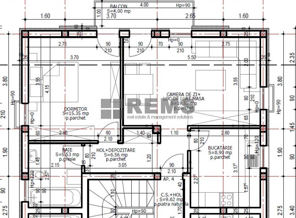 wohnung zum verkaufen cluj napoca rems 7254 rems imobiliare. Black Bedroom Furniture Sets. Home Design Ideas