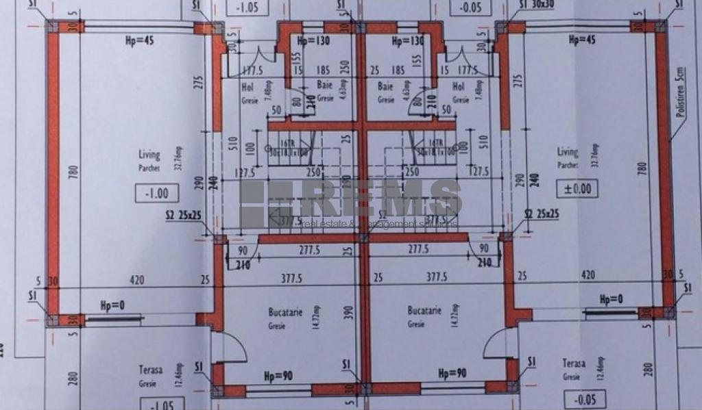 Casa de vanzare, sistem duplex, 4 camere, Borhanci