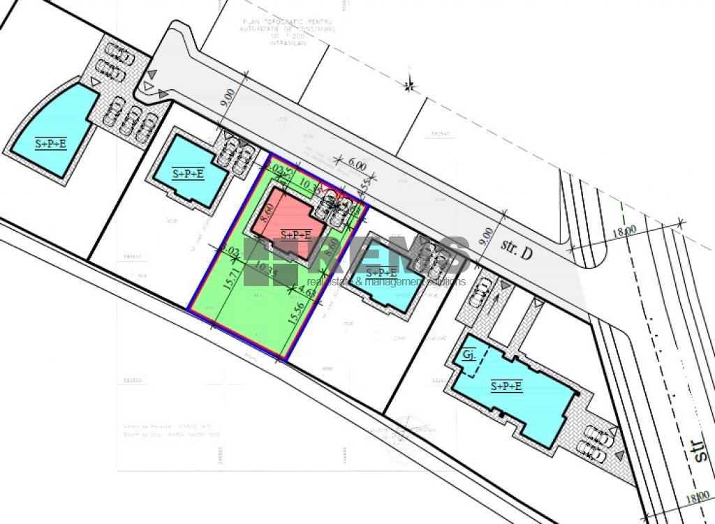 Teren cu proiect autorizat pentru 5 case