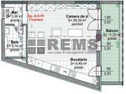 Apartament cu 1 camera in Centru, zona P-ta M.Viteazu, 42 mp, constructie noua