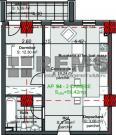 Apartament semifinisat in imobil nou, 50 mp, etajul 4, balcon